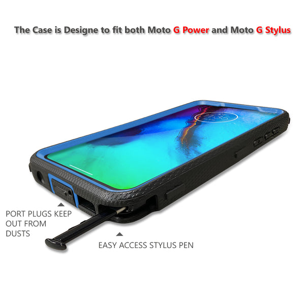 Moto G Power / G Stylus (2020) Case, COVRWARE [ Aegis Series ] with Built-in [Screen Protector] Heavy Duty Full-Body Rugged Holster Armor Cover [Belt Swivel Clip][Kickstand]