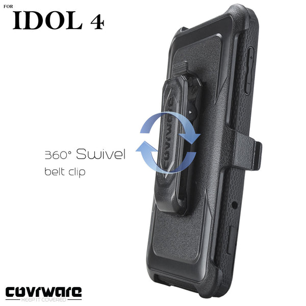 Alcatel Idol 4 / Nitro 4 [ Aegis Series ] Full-Body Armor Rugged Holster Case with Built-in Screen Protector [Kickstand][Belt-Clip]