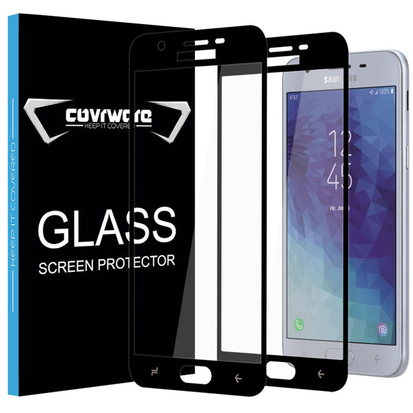 2-Pack Tempered Glass Screen Protector for Samsung Galaxy J3 2018 / J3 V 3rd / Express Prime 3 / J3 Achieve / J3 Star/Amp Prime 3 / J337 Tempered Glass Film [Case Friendly]