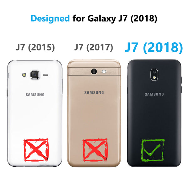 COVRWARE 2-Pack Tempered Glass Screen Protector for Samsung Galaxy J7 2018 / J7 Refine / J7V 2nd Gen / J7 Star / J7 Top / J737 Tempered Glass Film [Case Friendly]