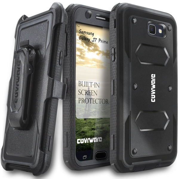 Samsung Galaxy J7 Prime/ J7 Sky Pro / J7 Perx/ J7 V / J7 2017 [ Aegis Series ] Full-Body Armor Rugged Holster Case with Built-in Screen Protector