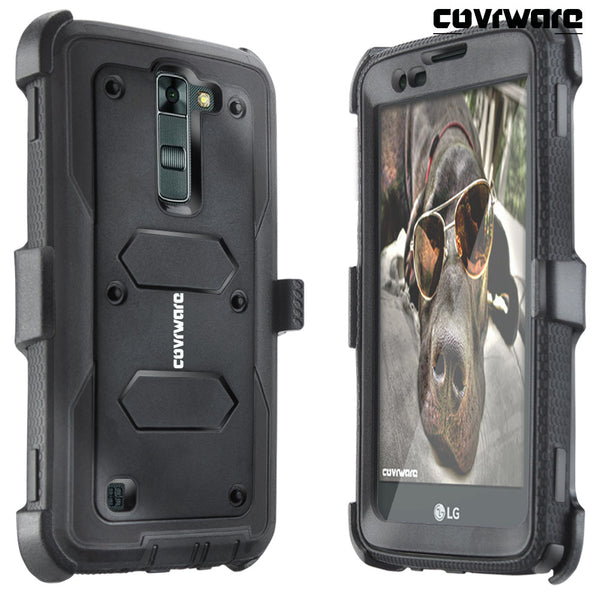 LG K7 / Tribute 5 / Escape 3 / Treasure / Phoenix 2 [ Aegis Series ] Full-Body Armor Rugged Holster Case with Built-in Screen Protector
