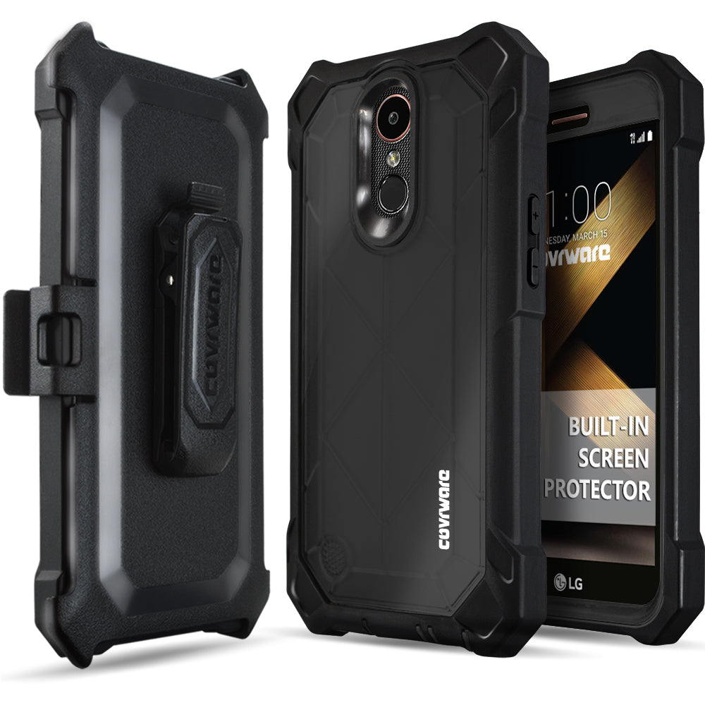 premium selection 1544a f741e LG K20 Plus / K20 V / Harmony / Grace 4G [Ranger Pro] Full-Body Armor  Holster Case with Built-in Screen Protector [Kickstand][Belt-Clip]