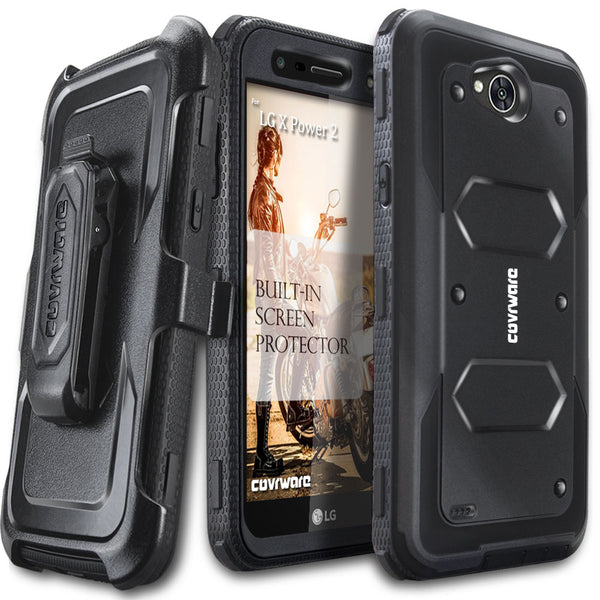 huge selection of 7338b 3ea3c LG X Power 2 / LG X Charge / LG Fiesta 2 / LG Fiesta LTE / K10 Power [  Aegis Series ] Full-Body Armor Rugged Holster Case with Built-in Screen ...