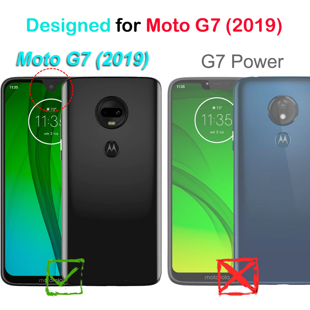 Moto G7 (2019) / G7 PLUS COVRWARE [Aegis Series] Case [Built-in Screen  Protector] Heavy Duty Full-Body Rugged Holster Armor Case [Belt