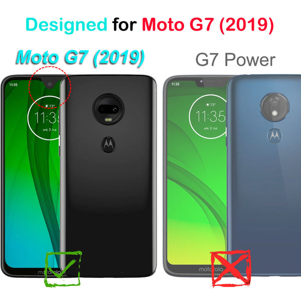 Moto G7 (2019) / G7 PLUS COVRWARE [Aegis Series] Case [Built-in Screen Protector] Heavy Duty Full-Body Rugged Holster Armor Case [Belt Clip][Kickstand]