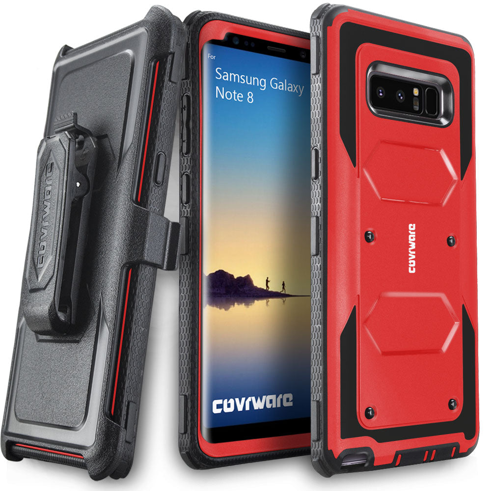 sports shoes c8e3b ad31a Samsung Galaxy Note 8 Case [ Aegis Series ] Full-Body Armor Rugged Holster  Case [Kickstand] [Belt-Clip]