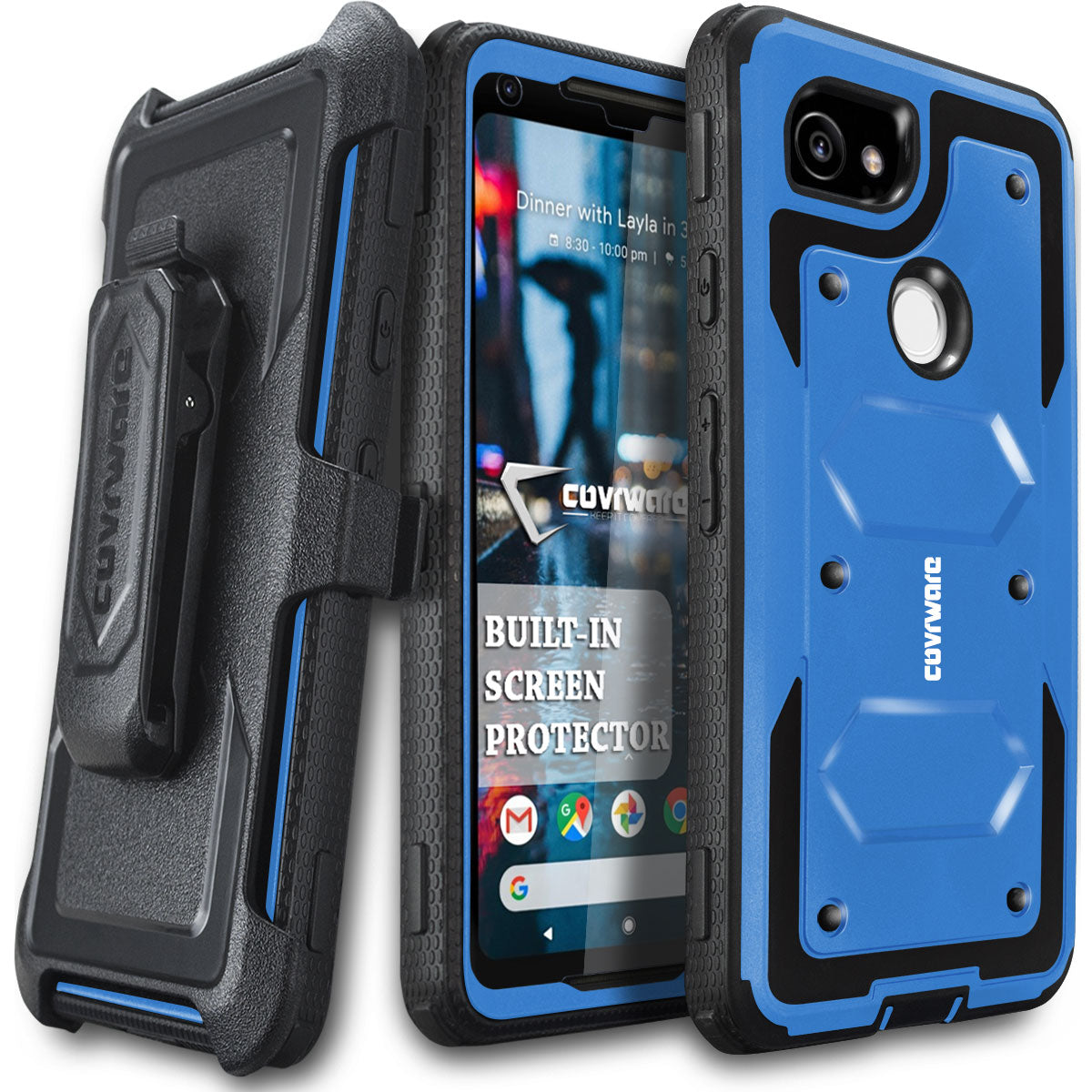 size 40 e9fbd cc344 Google Pixel 2 XL [ Aegis Series ] Full-Body Armor Rugged Holster ...