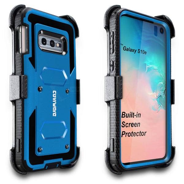 Samsung Galaxy S10e (5.8inch) COVRWARE [Aegis Series] Case [Built-in Screen Protector] Heavy Duty Full-Body Rugged Holster Armor Case [Belt Clip][Kickstand]