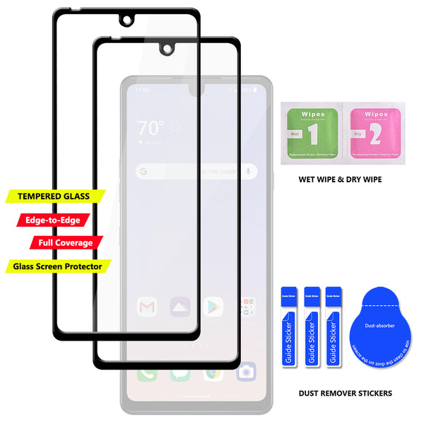 2-Pack Tempered Glass Screen Protector for LG Stylo 6 Tempered Glass Film