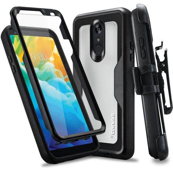 LG Stylo 4 / Stylo 4 Plus (2018) Case, COVRWARE [Aegis ProSeries] with [Built-in Screen Protector] Heavy Duty Full-Body Armor [Rotating Belt Clip Holster] Case [Kickstand]