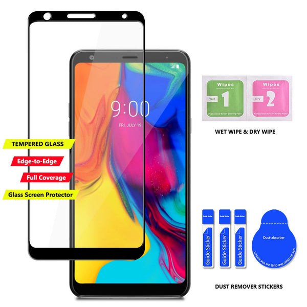LG Stylo 5 / LG Stylo 5X / Stylo 5+ / Plus Case, COVRWARE Card Slot Cover with [Tempered Glass Screen Protector] Dual Layers 3 Cards Slot Protective Armor Cover