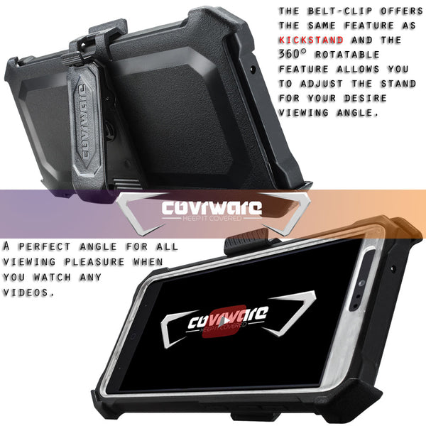 ZTE Blade Z Max / Sequoia [Ranger Pro] Full-Body Armor Holster Case with Built-in Screen Protector [Kickstand][Belt-Clip]