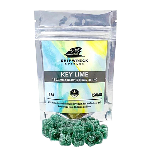 THC Gummy Bears - Key Lime