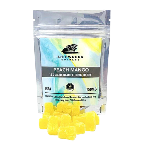 THC Gummy Bears - Peach Mango