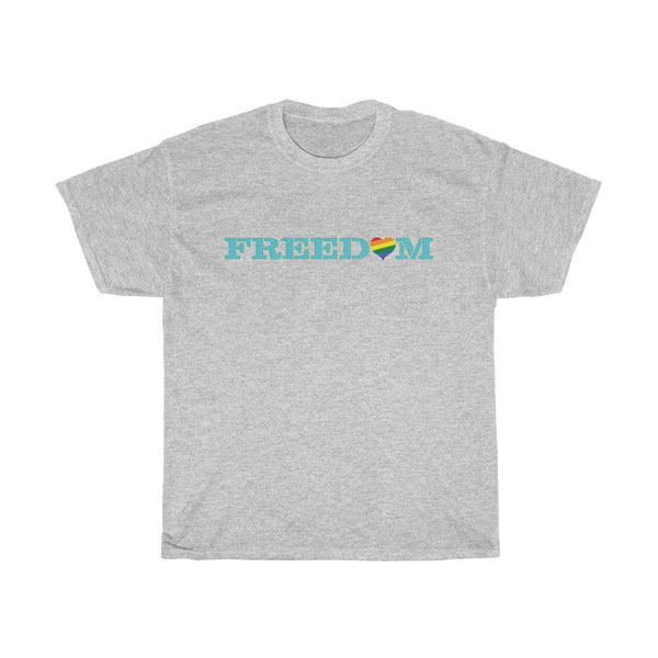 Freedom Pride Heart Cotton T-shirt