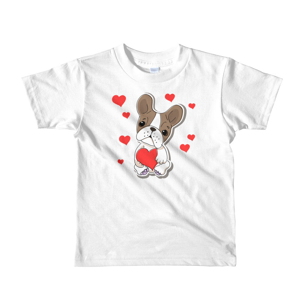 French Bulldog Love Short Sleeve Kids T-shirt