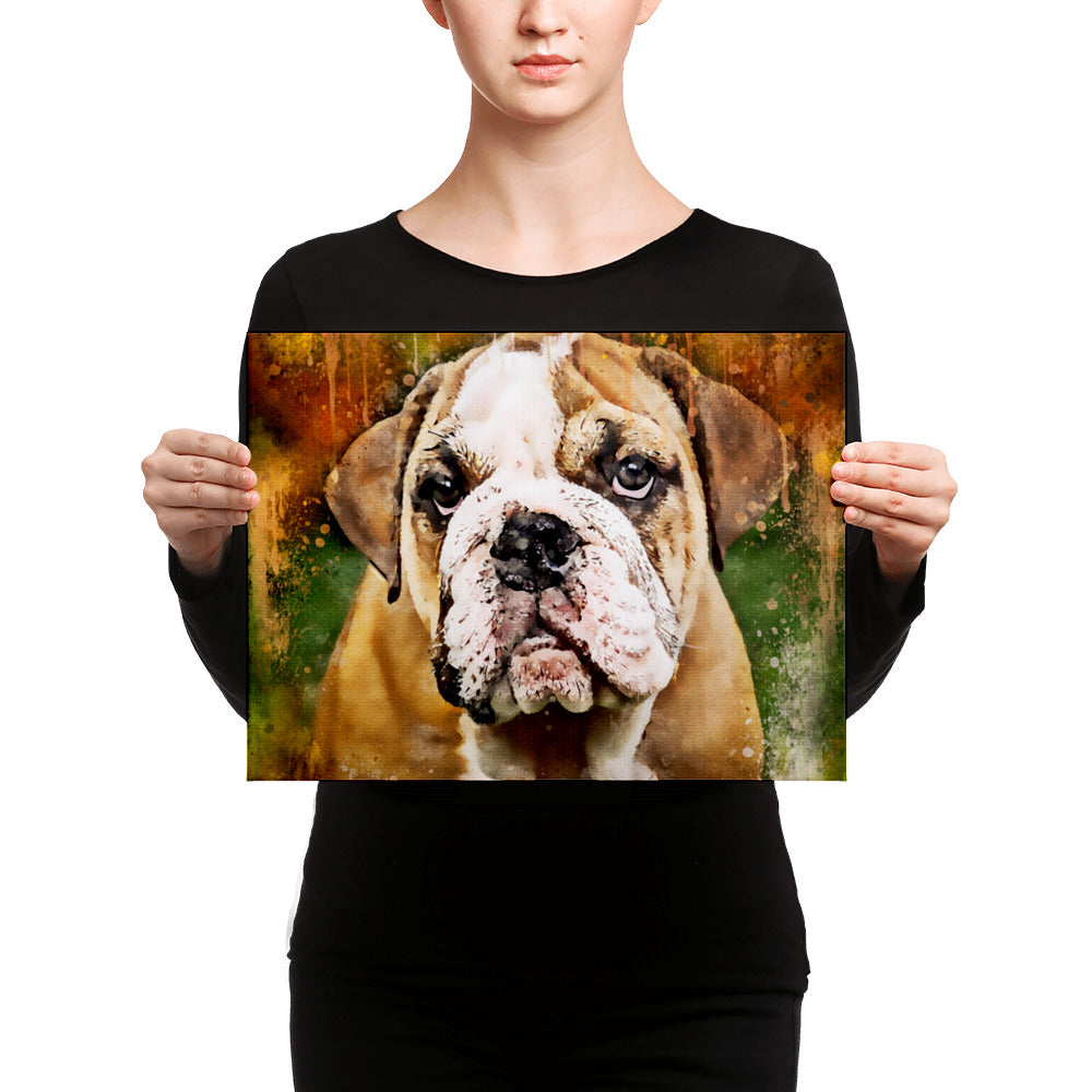 Bulldog Wall Canvas Print