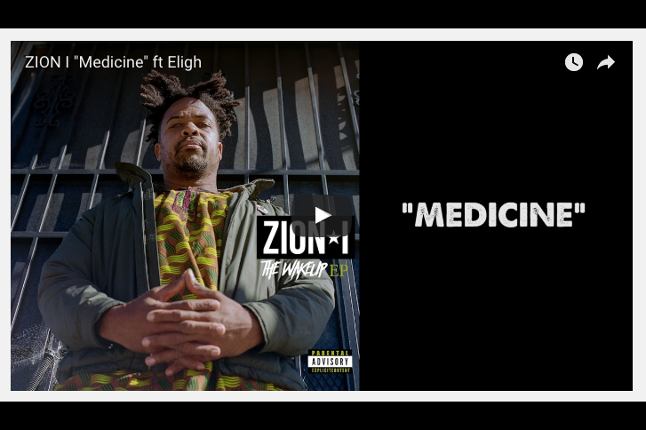 New Music:  Medicine feat Eligh prod by Mikos da Gawd