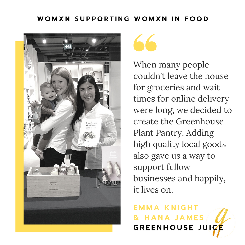 Emma Knight and Hana James of Greenhouse Juice | Womxn Supporting Womxn In Food