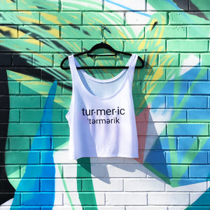 Load image into Gallery viewer, White Turmeric Crop Top