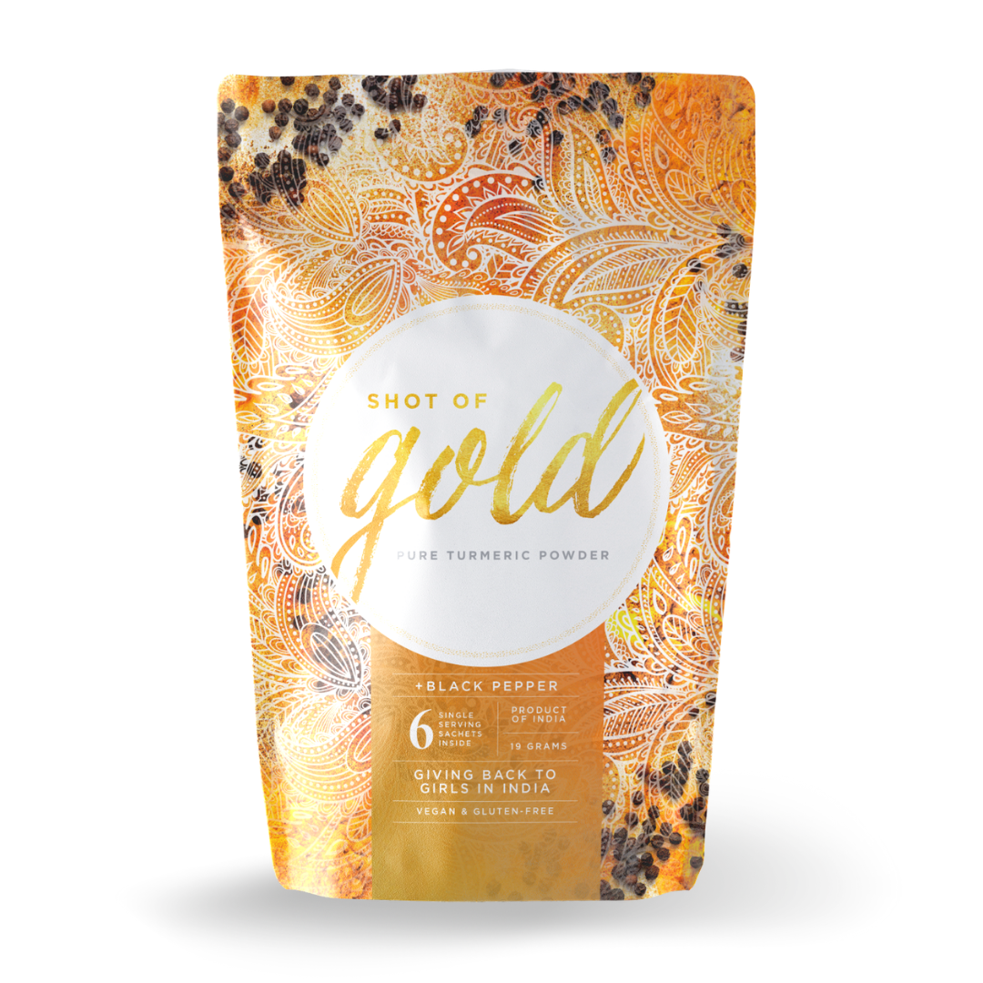 Organic turmeric with black pepper powder by Shot of Gold