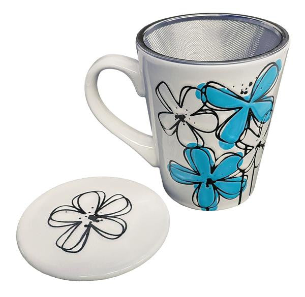 Blue Flower Tea Mug