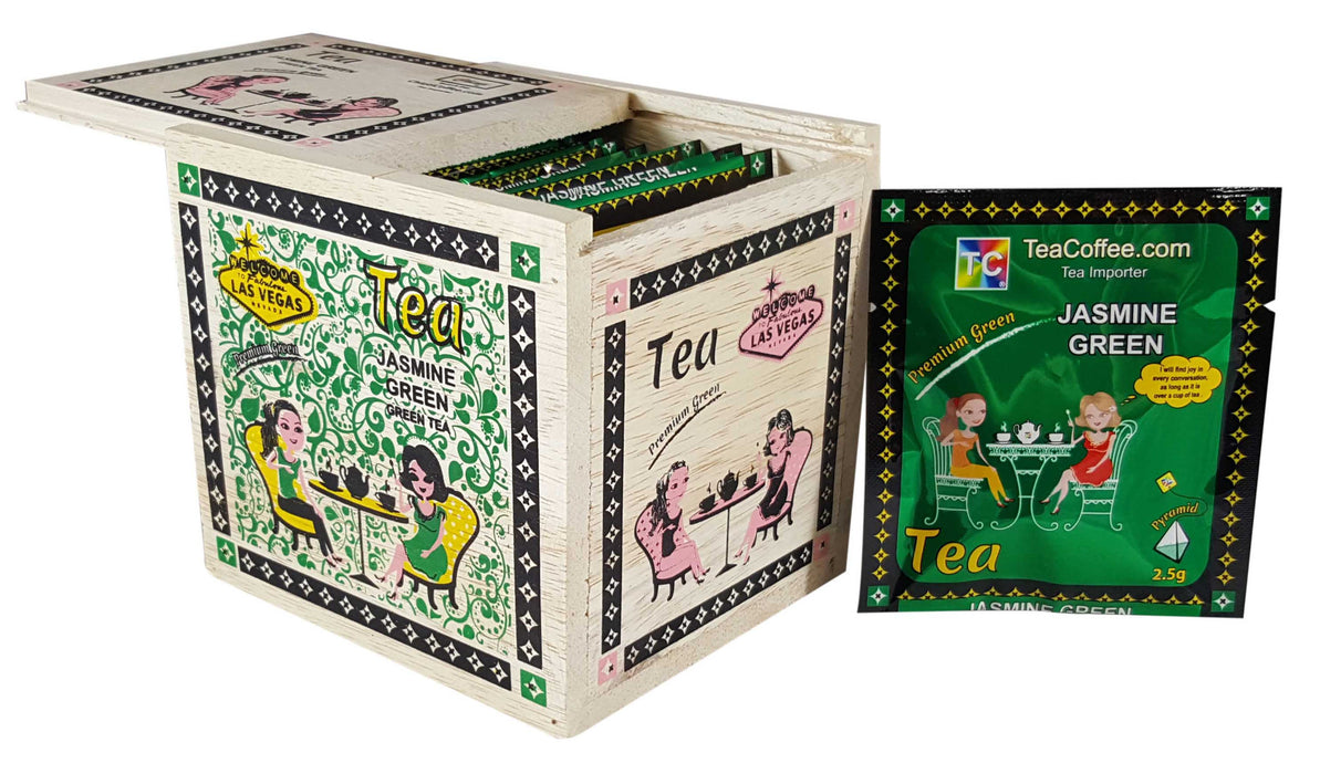 Jasmine Green Tea - Hand made wood Box