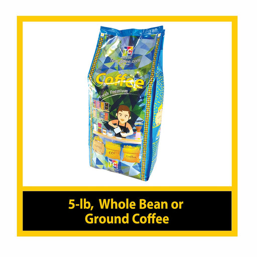 5 - lb, Whole Bean / Ground Coffee