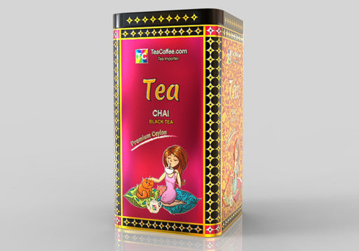 Chai Black tea - Tin Metal can With 15-Pyramid Tea Bag