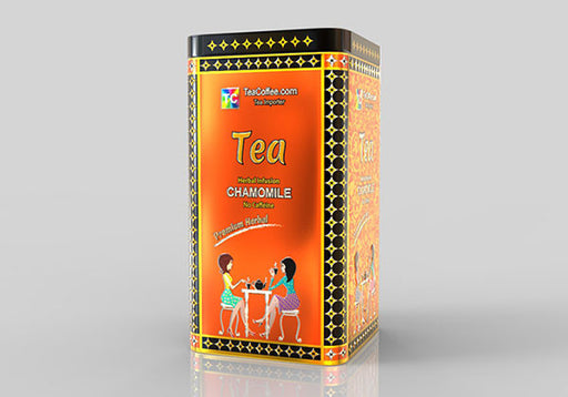 Chamomile Tea - Tin Metal can With 15-Pyramid Tea Bag