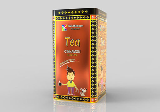 Cinnamon Tea - Tin Metal can With 15-Pyramid Tea Bag
