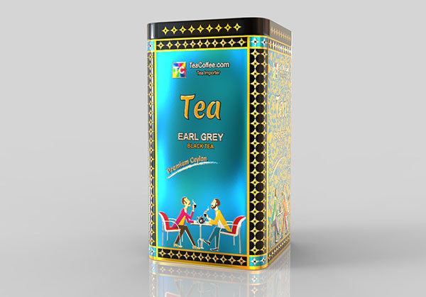 Early Grey Tea - Tin Metal can With 15-Pyramid Tea Bag