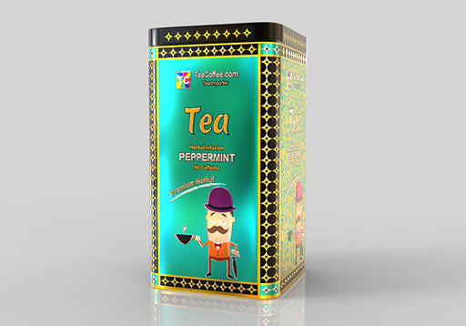 Peppermint Tea - Tin Metal can With 15-Pyramid Tea Bag