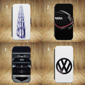 VW Golf logo Badge Gti FLIP WALLET Phone Case Cover iPhone  Samsun All models - EpicPhoneCase