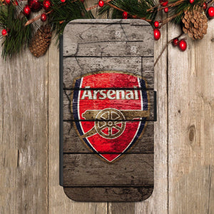 Arsenal Football Club FLIP WALLET Phone Cover Case iPhone / Samsung All models - EpicPhoneCase