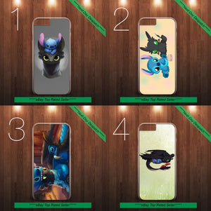Stitch And Toothless Dragon Alien Dog Ohana Plastic Hard Phone Case Cover - EpicPhoneCase