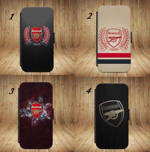 Arsenal Football Club WALLET PHONE CASE COVER FOR IPHONE and  SAMSUNG all model. - EpicPhoneCase