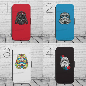 Star Wars Stormtrooper Skull WALLET Phone Case Cover iPhone / Samsung All models - EpicPhoneCase