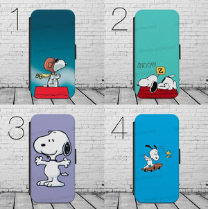 SNOOPY DOG CARTOON FLIP / WALLET Phone Case Cover iPhone / Samsung All models - EpicPhoneCase