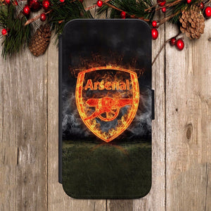 Arsenal Football Club FLIP WALLET Phone Cover Case iPhone 7 / Samsung All models - EpicPhoneCase