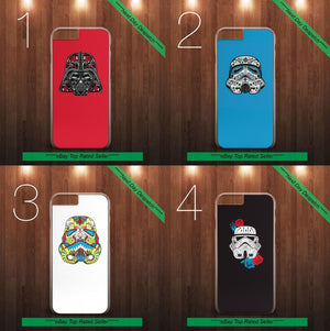 Star Wars Stormtrooper Sugar Skull iPhone and Samsung Range Case Cover Darkside - EpicPhoneCase