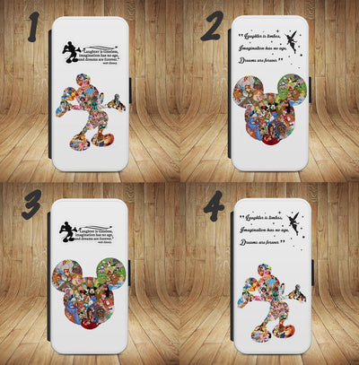 brand new a67b7 93af8 MICKEY MOUSE Disney Wallet Flip phone Case Cover For IPhone ...