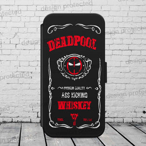 Deadpool Whiskey FLIP WALLET Phone Case Cover iPhone / Samsung All models - EpicPhoneCase