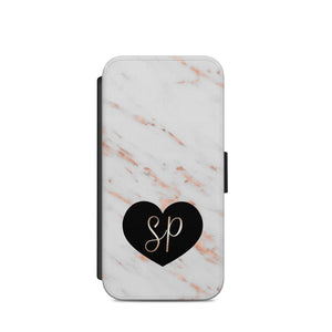personalised name initial marble heart A37 Case COVER Iphone/Samsug/S9/X/S8 - EpicPhoneCase
