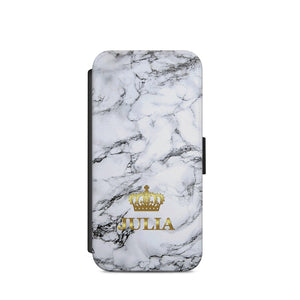 Personalised Name Marble Crown A50 WALLET COOVER CARD HOLDER S9+S9/X - EpicPhoneCase