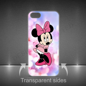 MINNIE MOUSE DISNEY LUXURY HARD PLASTIC CASE COVER FOR IPHONE X AND SAMSUNG S8