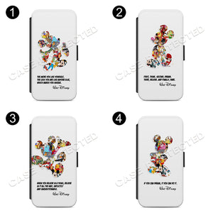 MICKEY MOUSE Disney Wallet Flip phone Case Cover For iPhone 7 & Samsung S8 Plus