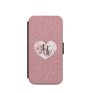 personalised name initials marble heart pink A38 COVER Iphone/Samsug/S9/X/S8 - EpicPhoneCase
