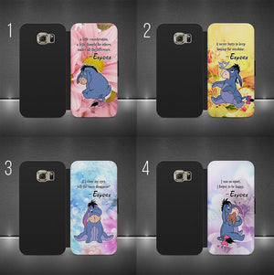 DISNEY EEYORE QUOTE WINNIE POOH-WALLET FLIP PHONE CASE COVER IPHONE & SAMSUNG
